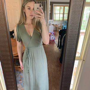 Lulu's Wrap Maxi Dress